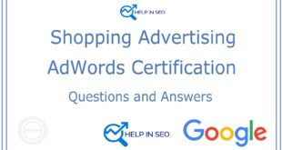 Google AdWords Shopping Advertising Exam Answers